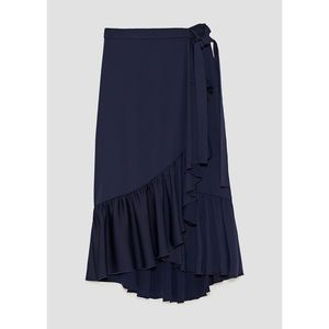 NWT Zara Ruffle Wrap Skirt